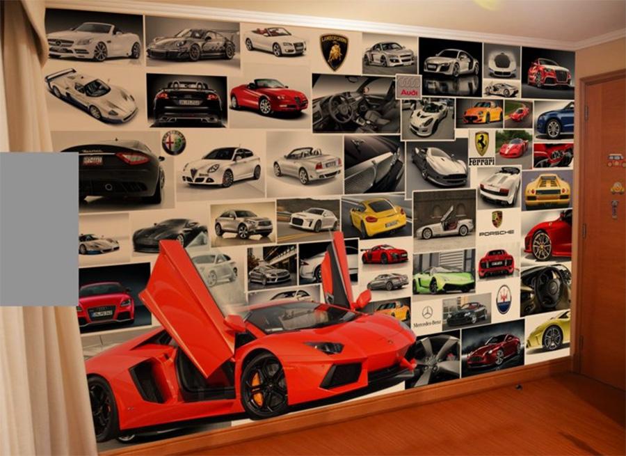 Collage fanático de autos en adhesivo HQ Laminado