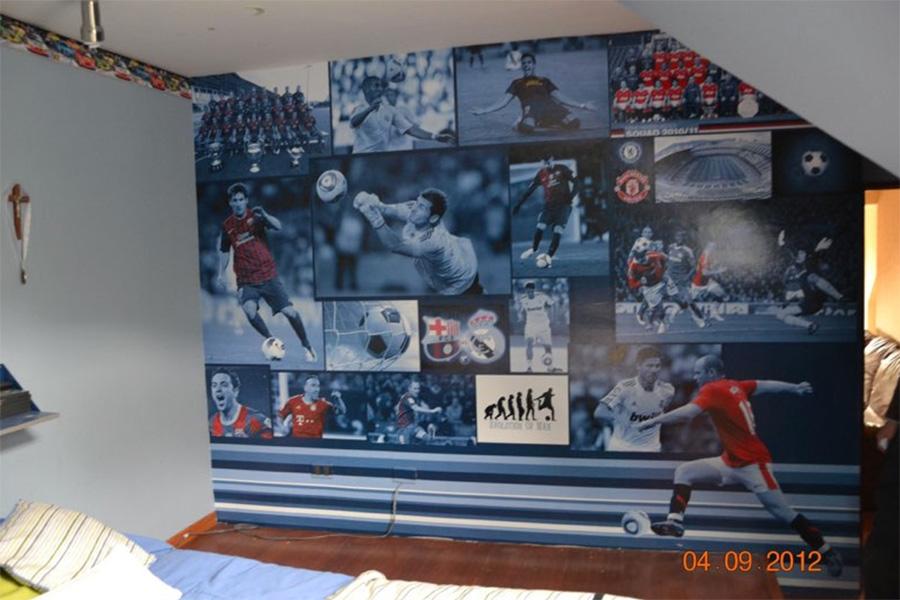 Collage Fútbol Personalizado en adhesivo HQ Laminado