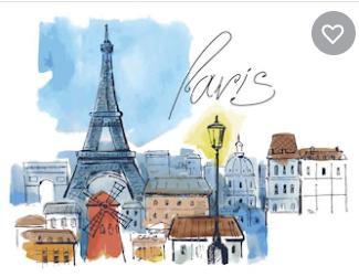 Paris Ilustracion Color Image