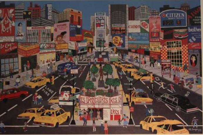 New York dibujado Image