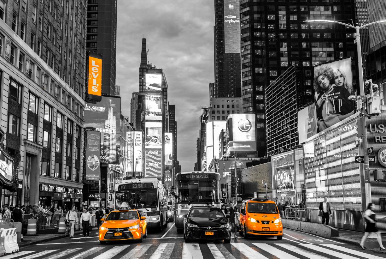Black White and Yellow New York Image